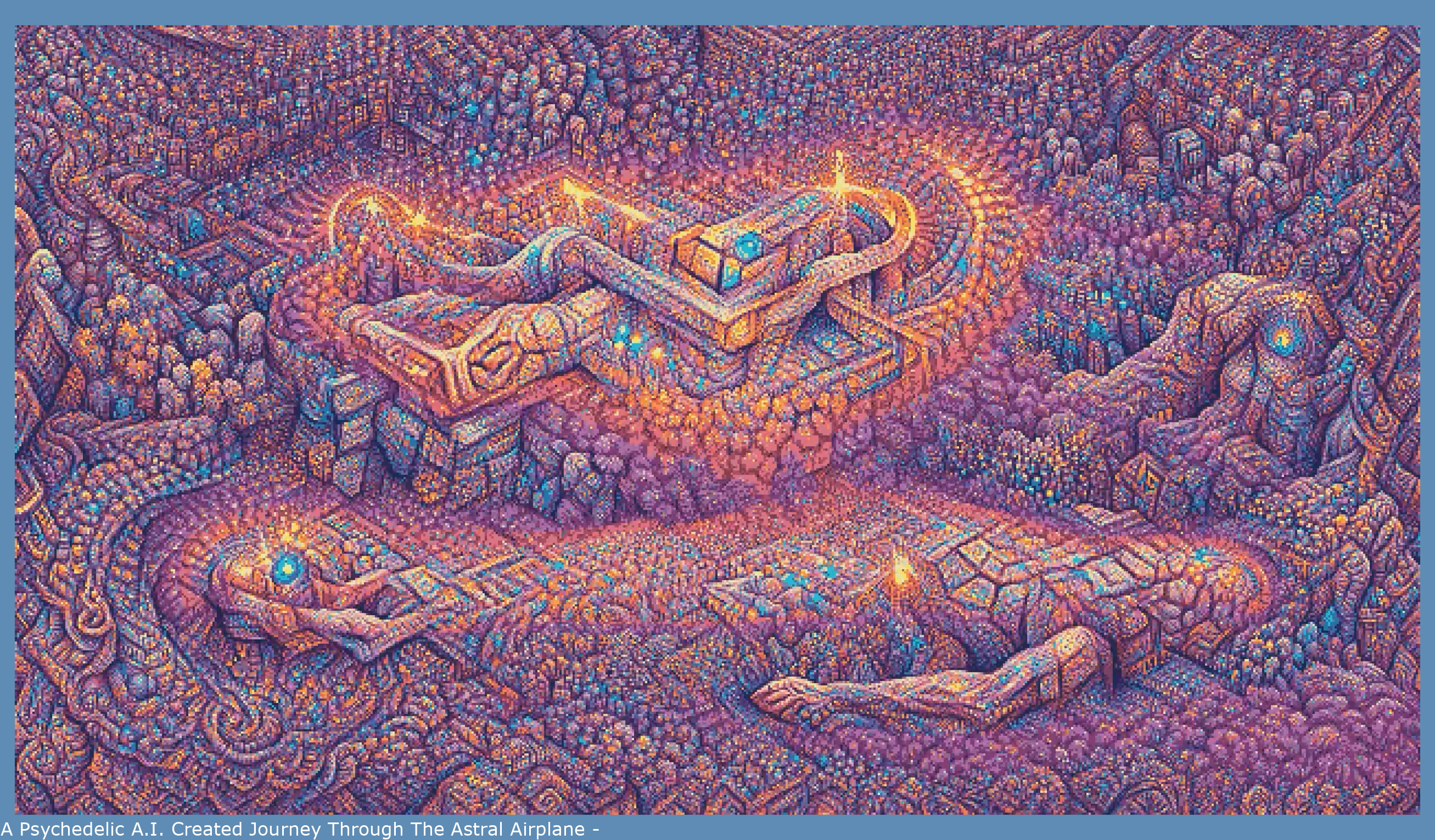 A Psychedelic A.I. Generated Journey Through The Astral Plane