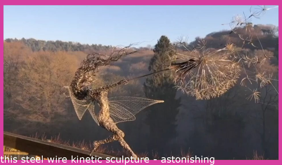 this steel wire kinetic sculpture