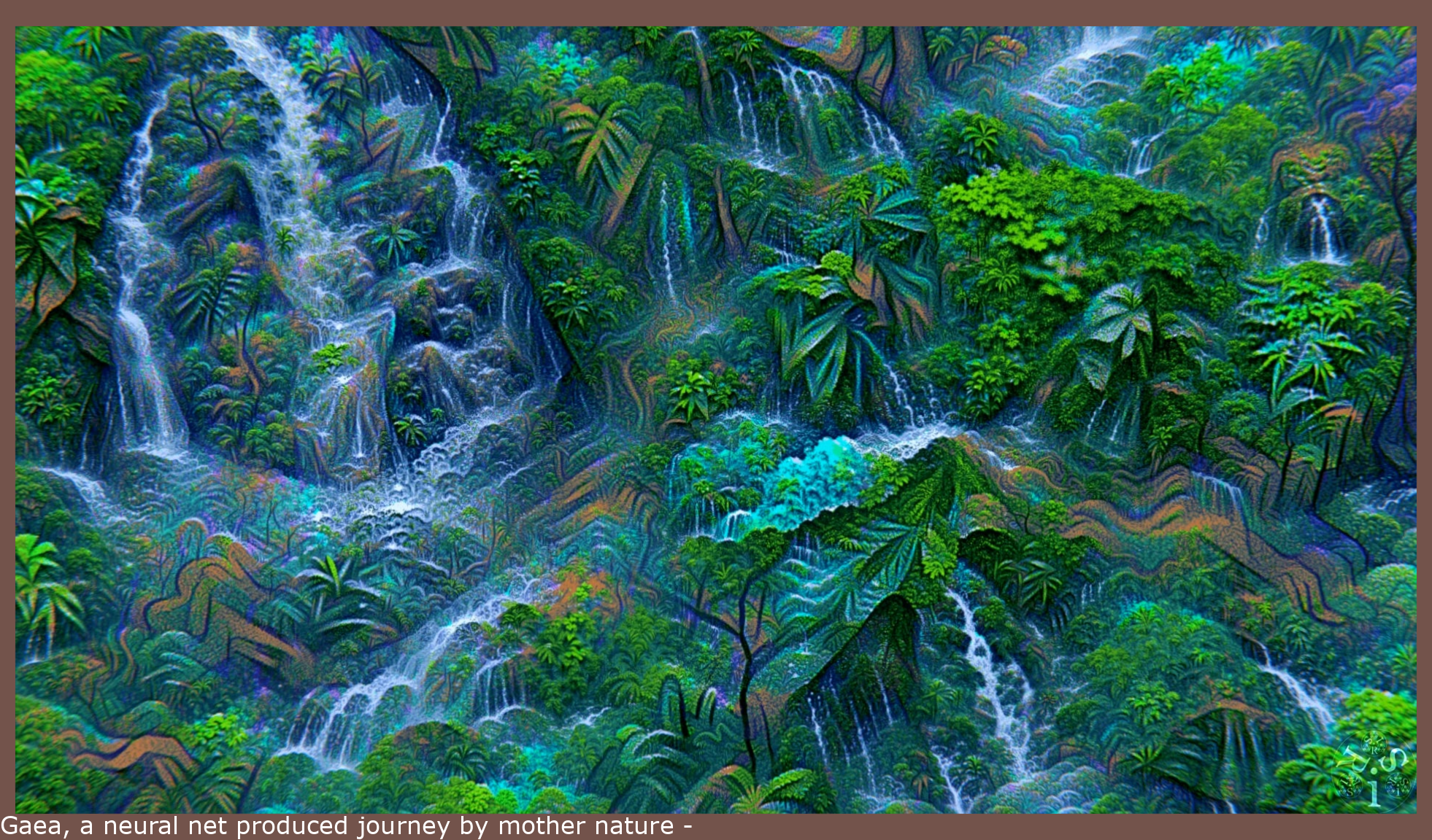 Gaea, a neural net generated journey through nature